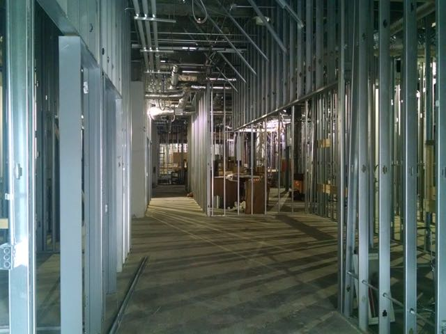 Second Floor, Interior construction work