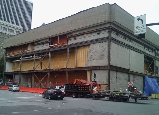 Exterior Renovation work (southeast corner of building)